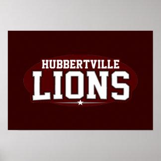 Hubbertville High School; Lions Poster
