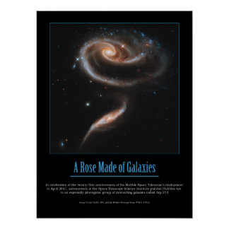 HUBBLE - A ROSE MADE of GALAXIES Poster