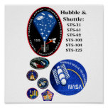 Hubble and The Shuttle Posters