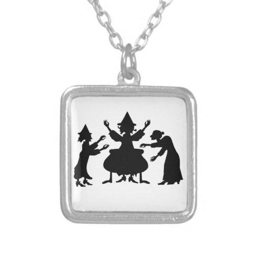 Hubble Bubble Witches Square Pendant Necklace