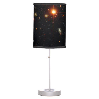 HUBBLE DEEP SPACE ASTROPHOTO - BLACK TABLE LAMP