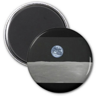 Hubble Earthrise Imán Redondo 5 Cm