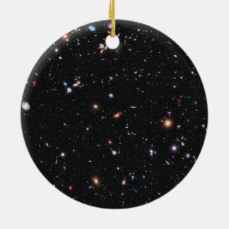 Hubble eXtreme Deep Field Galaxies Stars Ceramic Ornament