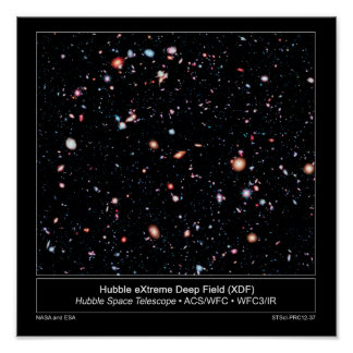 Hubble Extreme Deep Field News Release Poster