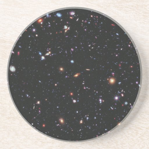 Hubble extreme deep field sandstone coaster zazzle - Sandstone drink coasters ...