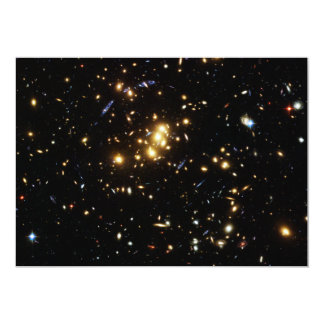 Hubble Finds Dark Matter Ring in Galaxy Cluster Card