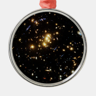 Hubble Finds Dark Matter Ring in Galaxy Cluster Metal Ornament