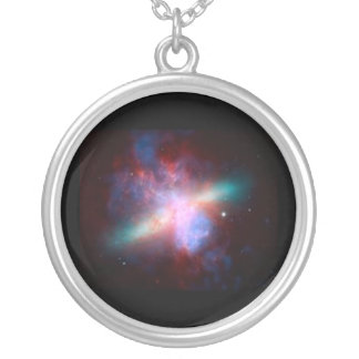 Hubble Galaxy Round Photo Charm Personalized Necklace