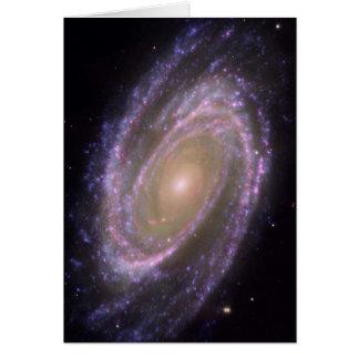 Hubble - Galex - Spitzer Composite Image of M81 Card
