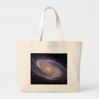 Hubble - Galex - Spitzer Composite Image of M81 Large Tote Bag