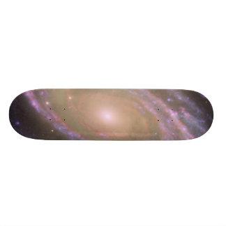 Hubble:GALEX:Spitzer Composite Image of M81 Skateboards