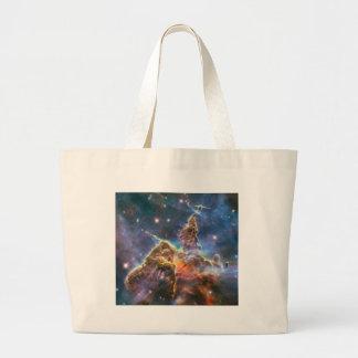Hubble Image Deep Space Nebula Canvas Bags