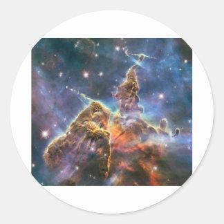 Hubble Image Deep Space Nebula Classic Round Sticker