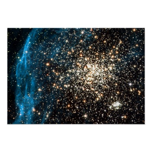 Hubble images remarkable double cluster poster