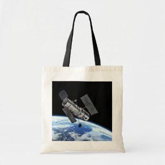Hubble In Orbit Canvas Bag