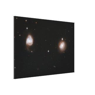 Hubble Interacting Galaxy AM 0702-601 Canvas Print