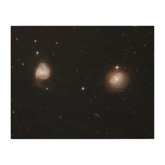 Hubble Interacting Galaxy AM 0702-601 Wood Wall Art
