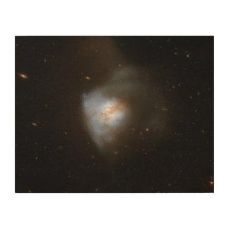 Hubble Interacting Galaxy Arp 220 Wood Wall Art