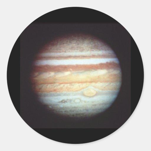 Hubble Jupiter Round Sticker