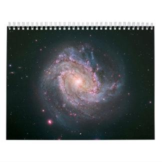 Hubble-Magellan Composite of M83 Wall Calendar