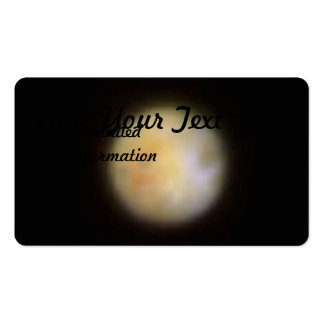 Hubble Observes Volcanic Io - Visible Light Double-Sided Standard Business Cards (Pack Of 100)
