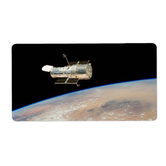 Hubble over Earth Custom Shipping Label