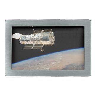 Hubble over Earth Rectangular Belt Buckle