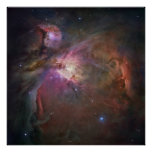 Hubble Panoramic View of Orion Nebula Poster