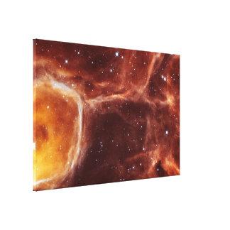 Hubble Peers Inside Interstellar Bubble N44F Canvas Print