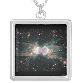 Hubble Photo Ant Nebula Square Charm Necklace