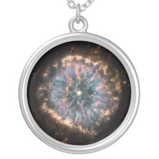 Hubble Photo Glowing Ring Round Charm Necklace
