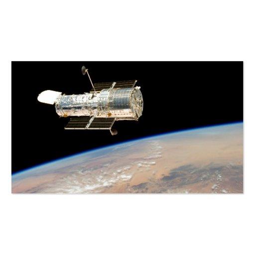 Hubble sobre la tierra tarjetas de visita