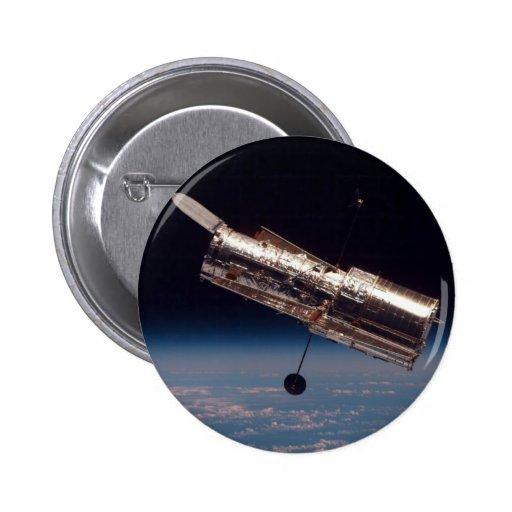 """Hubble Space Telescope"" 2 Inch Round Button"