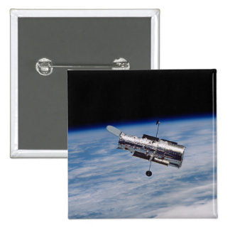 Hubble Space Telescope 2 Inch Square Button