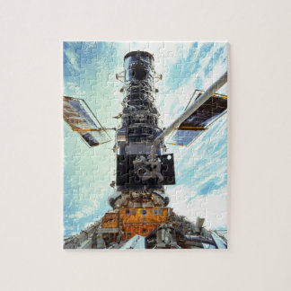 Hubble Space Telescope and astronauts Jigsaw Puzzle