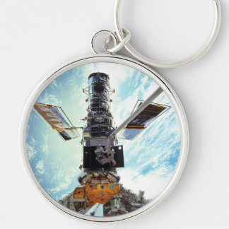 Hubble Space Telescope and astronauts Keychain