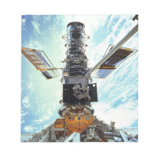 Hubble Space Telescope and astronauts Notepad