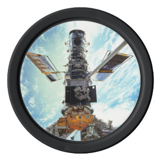 Hubble Space Telescope and astronauts Poker Chips