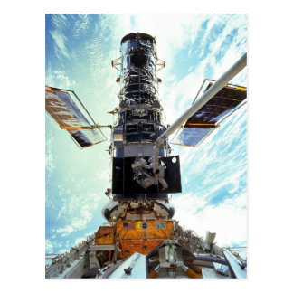Hubble Space Telescope and astronauts Postcard
