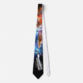 Hubble Space Telescope and Carina Nebula Neck Tie