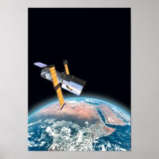 Hubble Space Telescope Astronomy Portfolio Poster