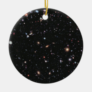 Hubble Space Telescope Field of Galaxies Ceramic Ornament