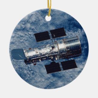 Hubble Space Telescope HST Double-Sided Ceramic Round Christmas Ornament