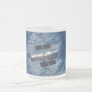 Hubble Space Telescope HST Frosted Glass Coffee Mug