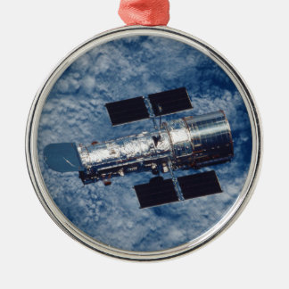 Hubble Space Telescope HST Round Metal Christmas Ornament