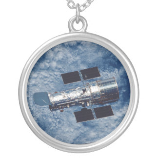 Hubble Space Telescope HST Round Pendant Necklace