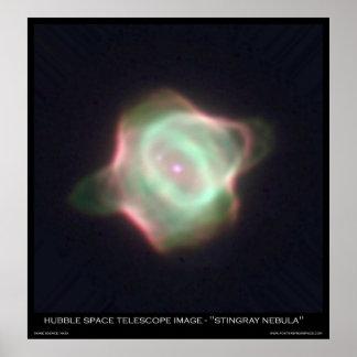 "Hubble Space Telescope Image ""Stingray Nebula"" Poster"