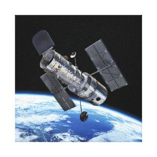 Hubble Space Telescope In Earth Orbit NASA Photo Canvas Print