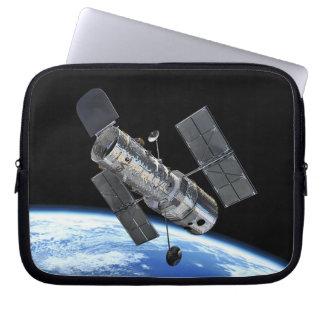 Hubble Space Telescope In Earth Orbit NASA Photo Laptop Sleeve