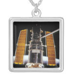 Hubble Space Telescope Silver Plated Necklace